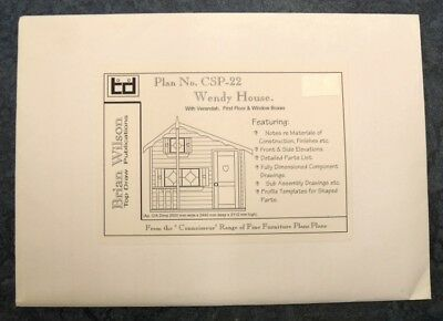 Plan (Only)To Build Wooden Wendy House With Veranda, First Floor No Materials