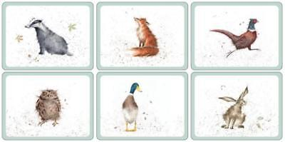 Pimpernel Wrendale Designs Placemats Set of 6 Table Mat Country Animal Farm New