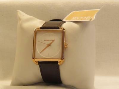 861fc99fcf2a MICHAEL KORS ROSE Gold Square Watch Leather Band MK-2585 -  71.40 ...