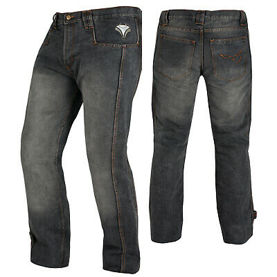 Biker Jeans Pants Trousers CE Armored Cruising Motorcycle Motorbike Black Sonic