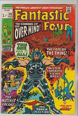 *** Marvel Comics Fantastic Four #113 1St Overmind Vg+ ***