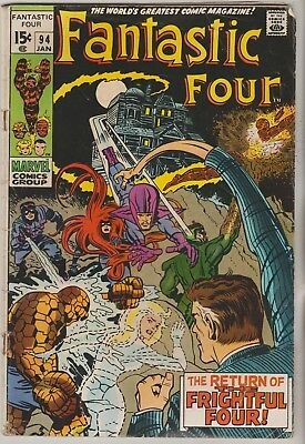 *** Marvel Comics Fantastic Four #94 Frightful Four G ***