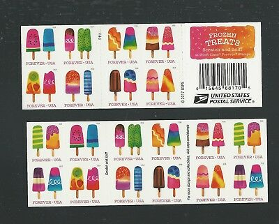 2018 #5294b with 5285-5294 Frozen Treats Booklet of 20 Forever Stamps MNH