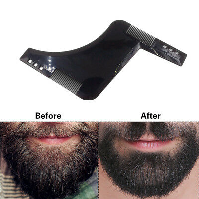 Gentlemen Style Beard Trim Template Men Modelling Tools Hairbrush Comb Shaping