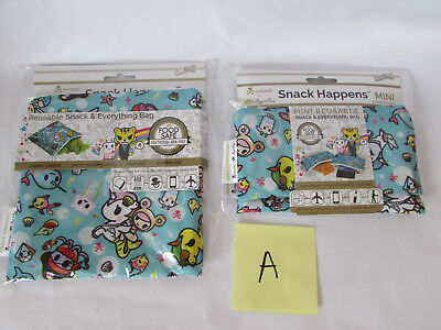 Itzy Ritzy Tokidoki Snack bags full size and mini underwater adventure set of 2