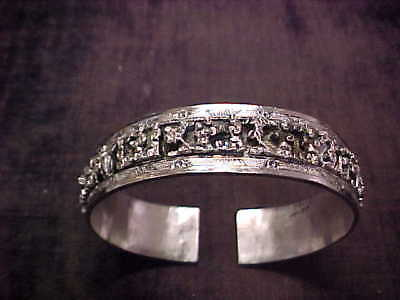 Antique Chinese Export Silver Bracelet,  Wonderful Detail