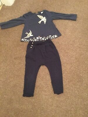 Girls Zara Trousers And Top Age 3-4