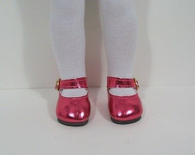 """RED Patent Heart Doll Shoes For 14/"""" American Girl Wellie Wisher Wishers Debs"""