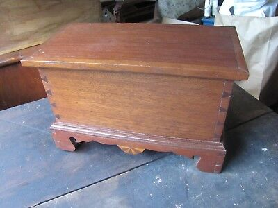 Solid Walnut Minature Dovetailed Blanket Box Trunk