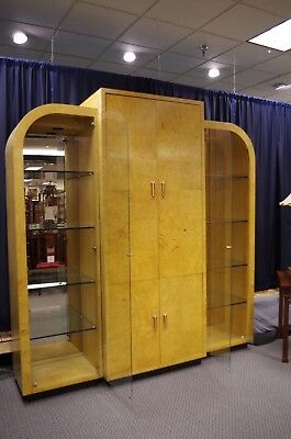 Henredon Scene Two, Three Section Cabinet - Art Deco Revival In High Style!