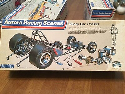 Aurora 1/16 Funny Car Chassis Complete Unbuilt Rare From 1973