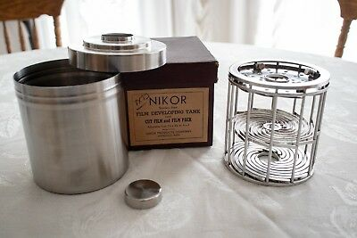 Nikor 4x5 Stainless Steel Developing Tank (12 Sht) + Original Box + Instructions