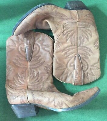 04204eff711 GUESS POINTED BROWN Leather PUNK Cowboy Boots US Women's 8.5M By Marciano