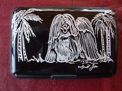 Havanese - Hand engraved Credit Card Wallet by Ingrid Jonsson