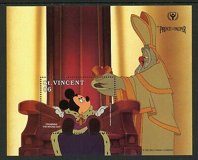 St. Vincent Scott #1518 MNH S/S Disney Characters Mickey Mouse CV$5+