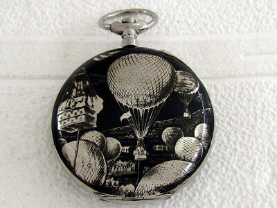 Systeme Roskoff Antique Swiss Art Deco Unique from Pocket Watch Blued Case
