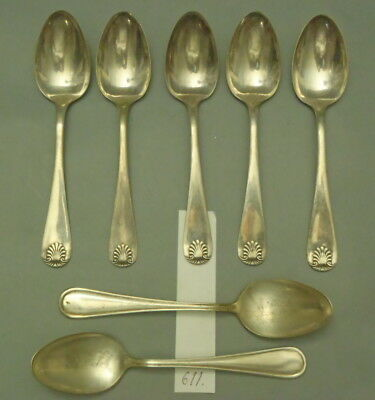 Antique silverplate Dinner spoons mix - 7 pc lot 611
