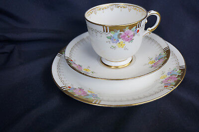 Plant Tuscan China Cup, Saucer & Plate With Flower Design