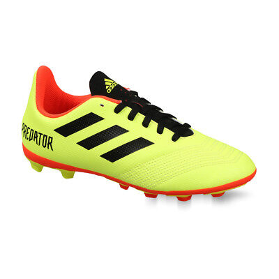 5bdefd924 Youth Adidas Kids Predator 18.4 FxG Cleats (Solar Yellow/Red/Black) DB2321