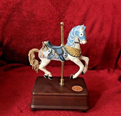 San Francisco Music Box Co Limited Edition Camelot Carousel Horse RARE J Kennedy