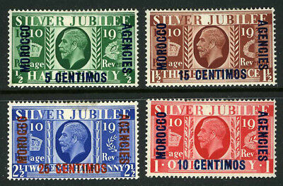 * GB * Silver Jubilee Issue of 1935 * King George V * Morrocco Agencies * MH *