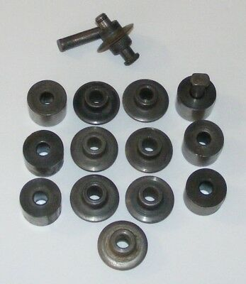 8 RIDGID Pipe Cutter Wheels, Nos. 1 & 2, Thin, F-514, + 6 Rollers and  3 Pins
