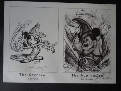 MICKEY MOUSE Sorcerer and the Apprentice Lithograph Signed LE of 200