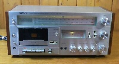 Vintage SONY Stereo Music System HST-49 Cassette Deck / Receiver PARTS/REPAIR
