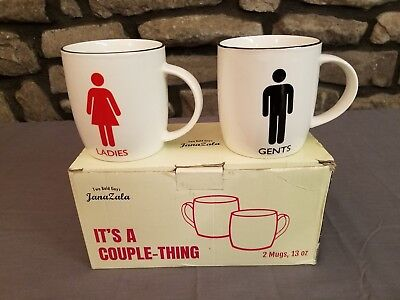 His And Hers - Ladies & Gents - It's A Couple Thing - 13 Oz Coffee Mugs