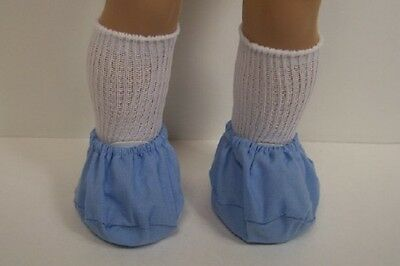 """BLUE Doctor Dr Nurse Scrub SHOE COVER Doll Clothes For 18"""" American Girl (Debs)"""
