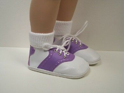 """BLACK /& WHITE Saddle Oxford Doll Shoes For 22/""""-23/"""" My Twinn Poseable Debs"""
