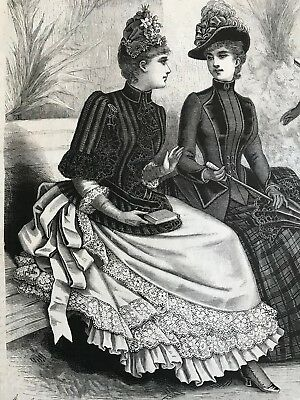 MODE ILLUSTREE SEWING PATTERN March 27,1887 - BLOUSES, MANTELETS
