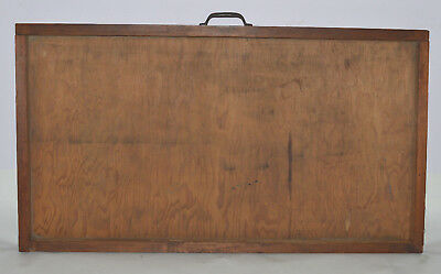 Vintage Printer's Type Tray/Drawer Shadow Box, empty case, no dividers 7/8 size