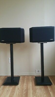 Bose 301 Series Iv Direct Reflecting Stereo Bookshelf Speakers Stands