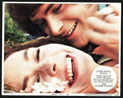 SAY HELLO TO YESTERDAY Lobby Card (Fine) 1971 Jean Simmons Movie Poster 15014