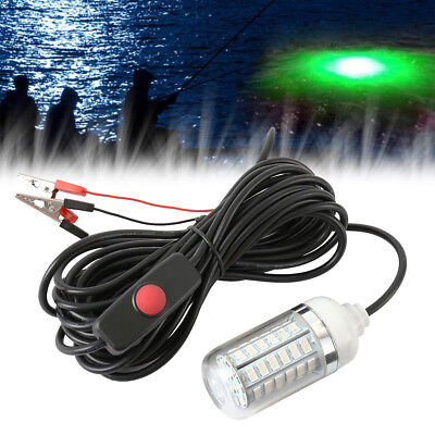 12V LED Underwater Submersible Night Fishing Light Crappie Shad Squid Boat