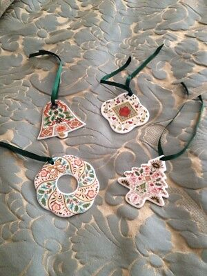Royal Crown Derby Christmas Ornaments Set Of 4 RRP £46 Each