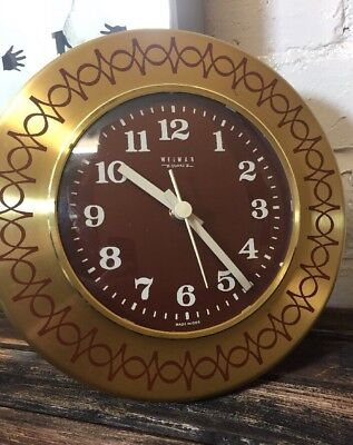 Vintage Wall Clock Made in East Germany by Weimar Retro Kitchen Clock