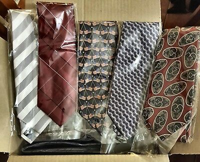 Bulk Lot x 50 Mens Fashion Ties - Mixed Brands - Imported - Free Postage - Box 1