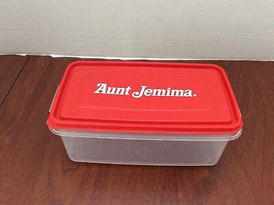 Vintage Rare Aunt Jemima Advertising Rubbermaid Plastic Container with Lid