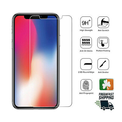 Premium Quality Tempered Glass Screen Protector Film For Apple iPhone X/Xs