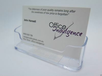 Deflect-o Business Card Holder – Clear 1-100 units  70101