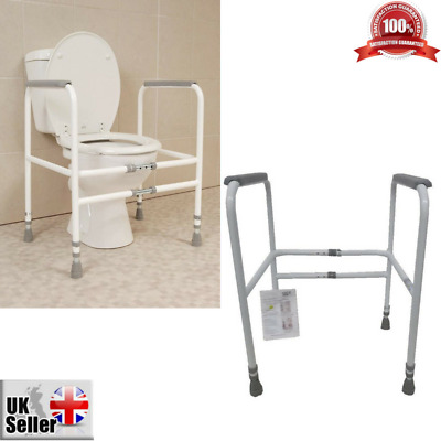 Free Standing Disabled Toilet Frame Mobility Bathroom Safety Aid Elderly Sturdy