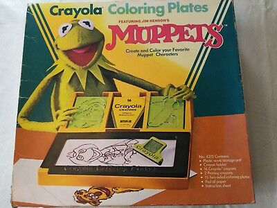 Vintage 1982 Crayola Muppets Coloring Plated plus extras