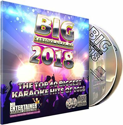Mr Entertainer Big Karaoke Hits of 2018 - Double CDG CDG Pack. 40 Top Chart S
