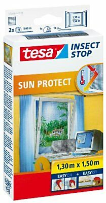 tesa 55806-00021-00 Insect Stop Hook and Loop Sun Protect Insect Screen For Wind