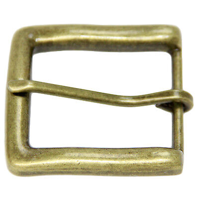 Large Square Replacement Belt Buckle For 1 1/2 Inch Width Old Brass Finish