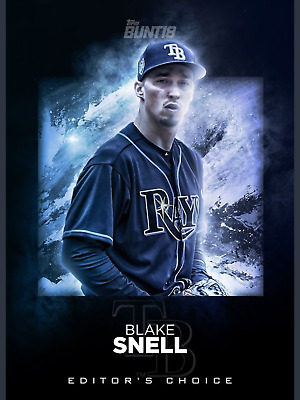 EDITOR'S CHOICE BLAKE SNELL Rays 2018 Topps BUNT Digital Card Trader Wave 2