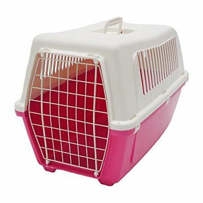 ROSEWOOD Vision Classic Cat and Pet Carrier 60 cm, Large, Pink Panther