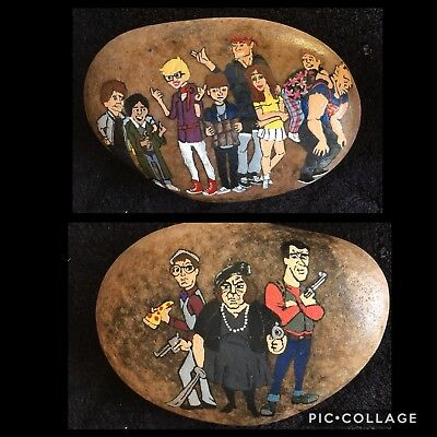 HAND PAINTED ROCK ART The Goonies & The Fratellis * DOUBLE SIDED* HEAVY*